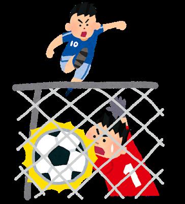 サッカー高校イラスト